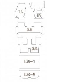 VolksWagen GOLF Touran Highline 3列シート車¥55000円~¥140000円 カスタムフロアマット